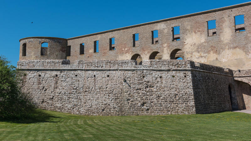 Borgholm castle. From the entrance stock photo