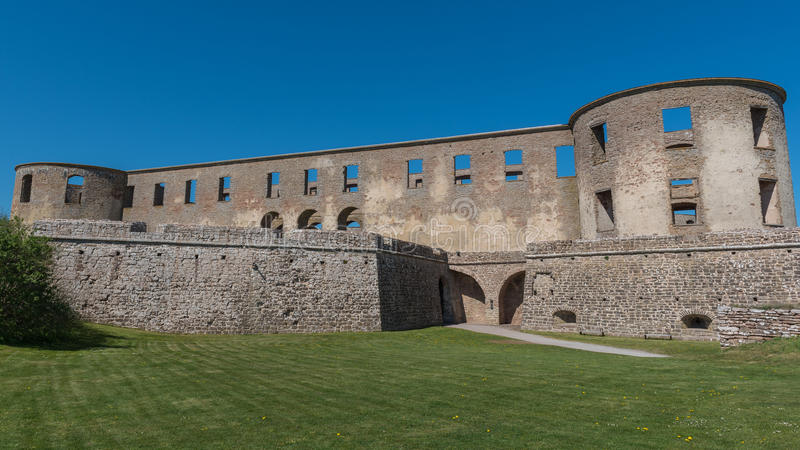 Borgholm castle. From the entrance royalty free stock photography