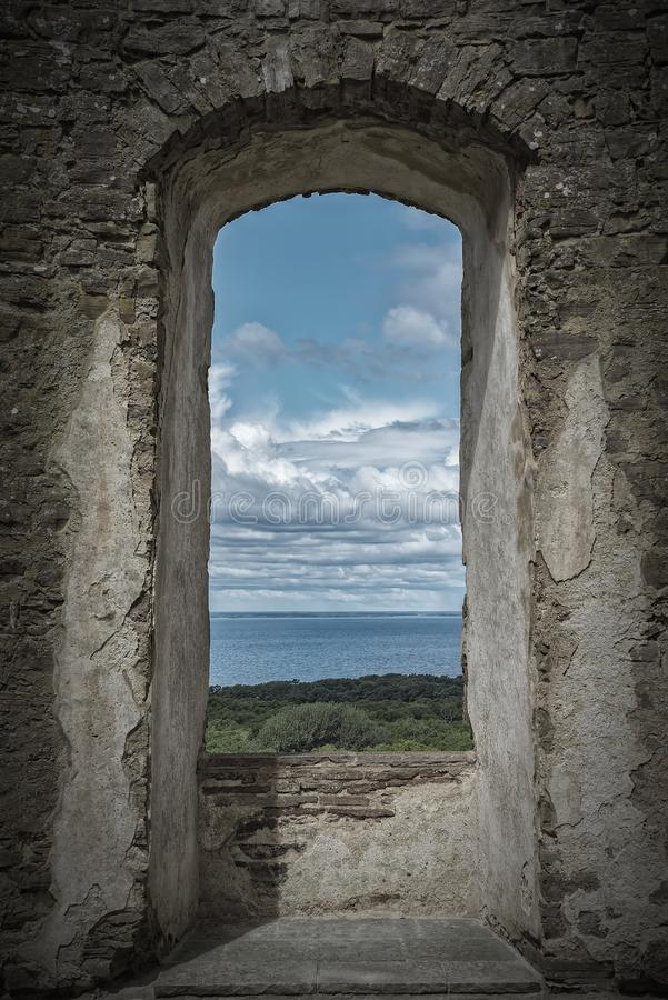 Borgholm Castle Ruin Window stock photos