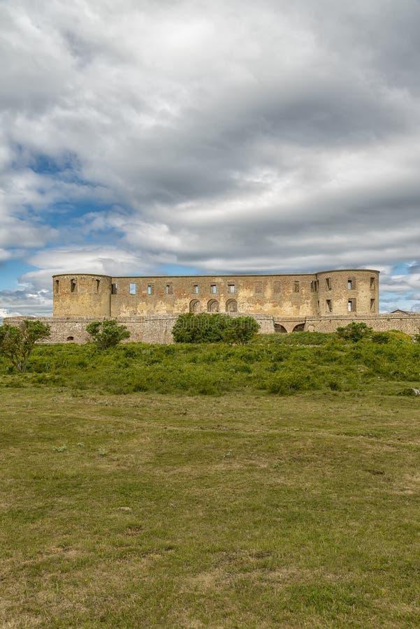 Borgholm Castle Ruin stock image