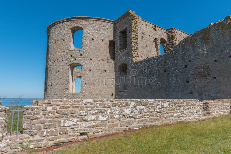 Borgholm castle. Photographed from the side with seaview royalty free stock image