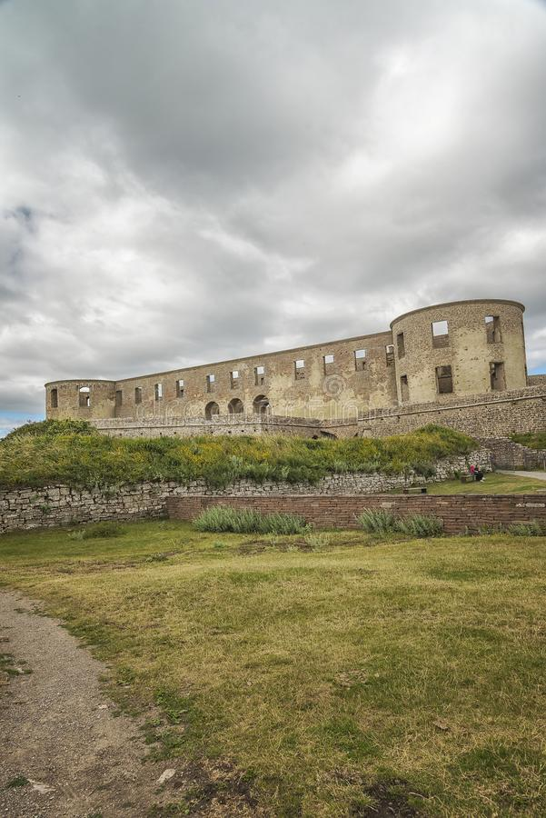 Borgholm Castle Ruin. Borgholm Castle on Oland, Sweden, is today only a ruin of the fortress that was first built in the second half of the 13th century and stock photography