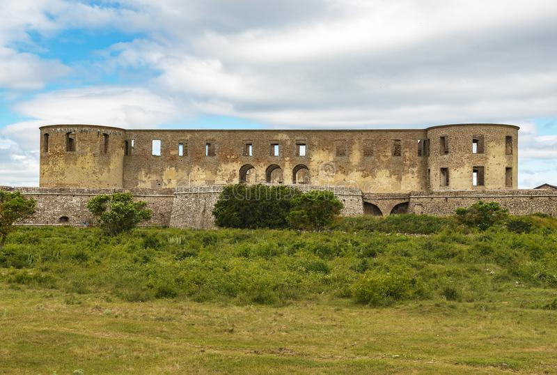 Borgholm Castle Ruin Facade royalty free stock images