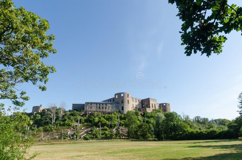 Borgholm castle ruin, a landmark on the swedish island Oland. Borgholm castle ruin, a famous medieval landmark on the swedish island Oland stock photography