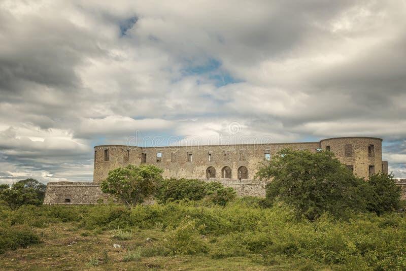 Borgholm Castle Ruin 01 stock image