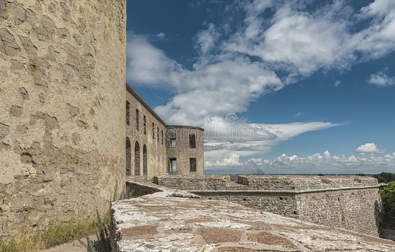 Borgholm Castle Ruin Side Angle stock images