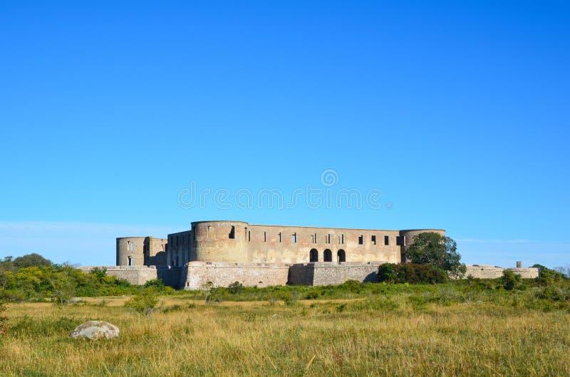 Borgholm castle ruin, Sweden. The famous Borgholm castle ruin on the island Oland in Sweden stock photography