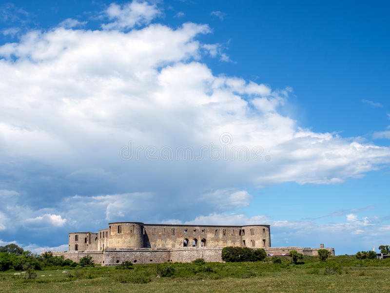 Borgholm castle, Sweden. Borgholm castle is a ruin of a fortress that was built on Swedish Baltic sea island Öland in the 13th century and rebuilt several stock photos