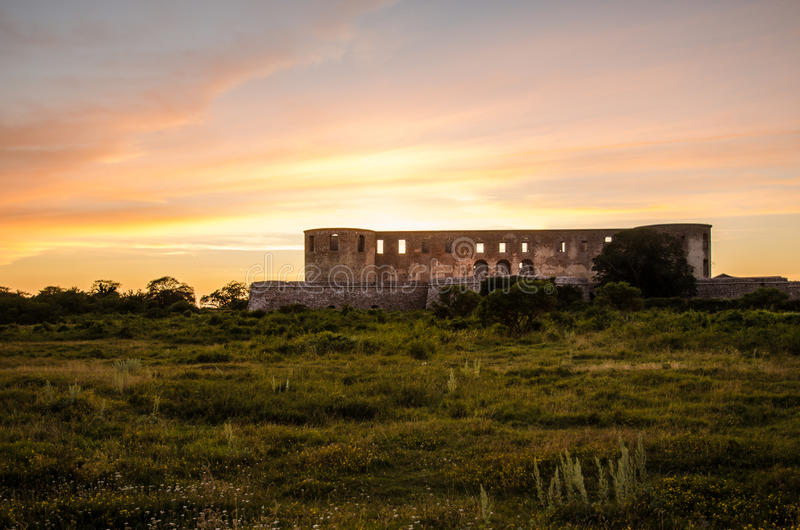Borgholm Castle, Sweden. Sunset at the famous Borgholm Castle on the island Oland in Sweden royalty free stock photography
