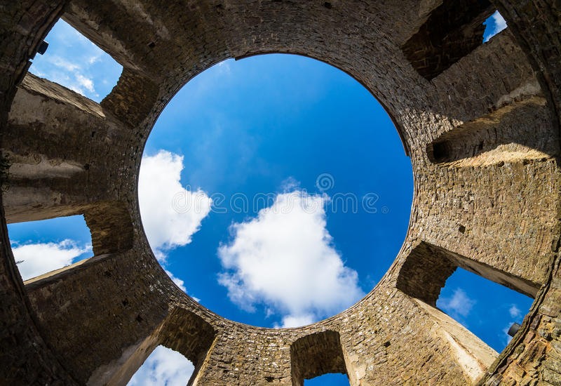 Borgholm Castle. View from inside Borgholm Castle in Öland, Sweden stock photography