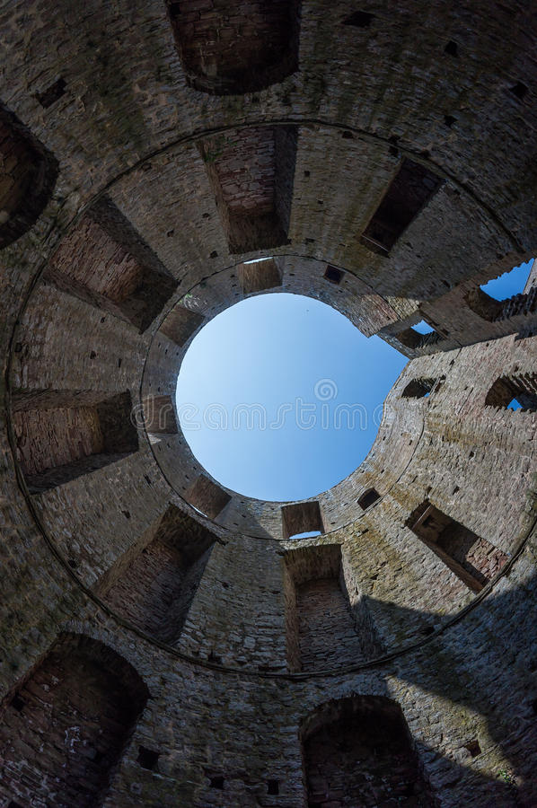 Borgholm Castle. View from inside Borgholm Castle in Öland, Sweden royalty free stock photo