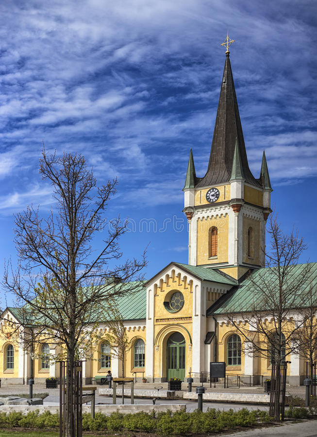 Borgholm Church in Sweden. Old Borgholm Church in Sweden royalty free stock image
