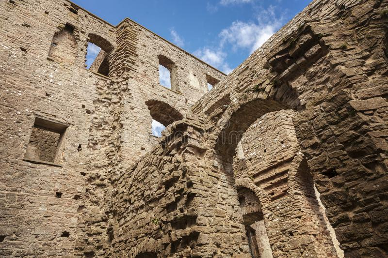 Borgholm fort wall remains. Wall remains of a medieval fort in Borgholm, Sweden stock images