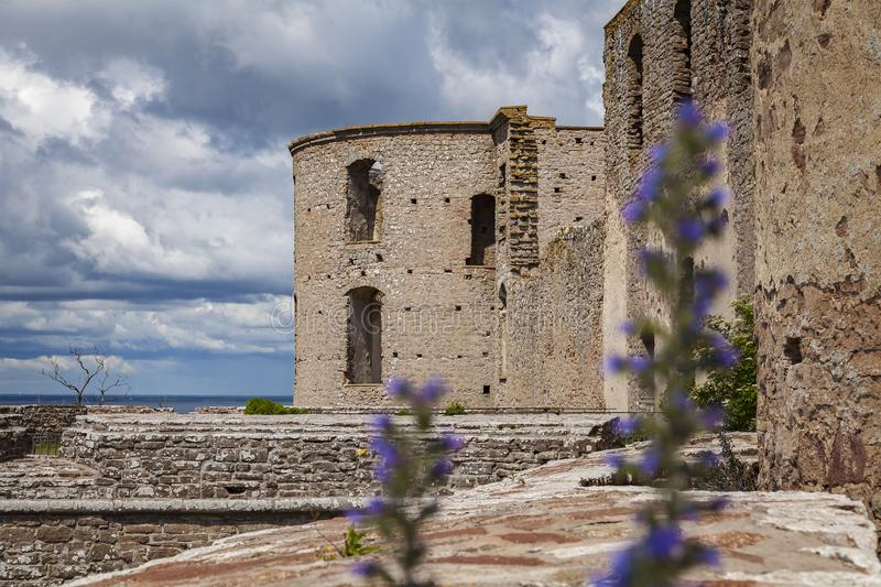 Borgholm medieval fort. Ification remains on Oland, Sweden stock photos