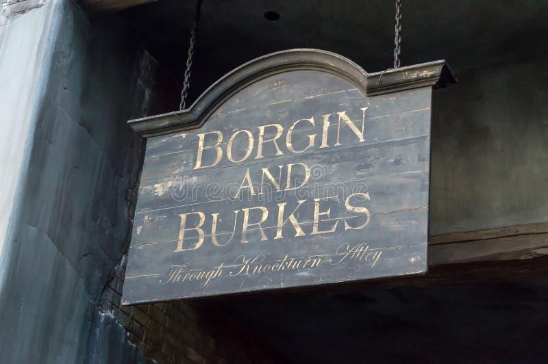 Borgin和室息 库存照片