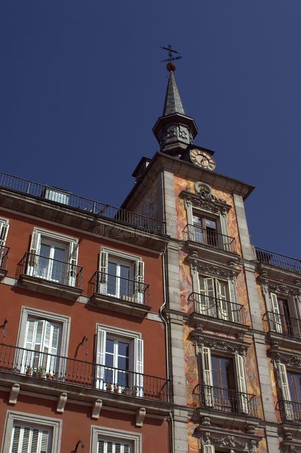 borgmästareplaza för de madrid royaltyfria foton