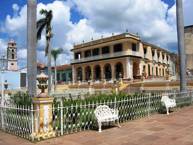 borgmästareplaza trinidad royaltyfria bilder