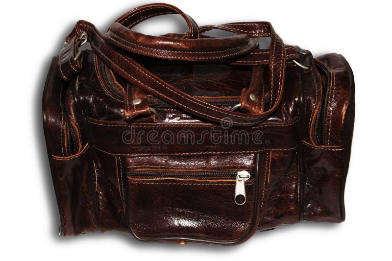 Borgoña, bolso retro de cuero imagenes de archivo