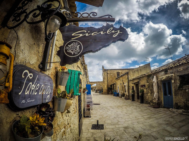 Borgo di marinai di Marzamemi royalty free stock photos