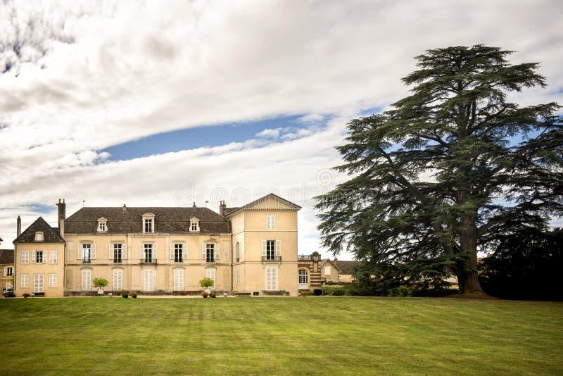 Borgogna, Montrachet Chateau de Meursault ` De Cote d o francia imagen de archivo