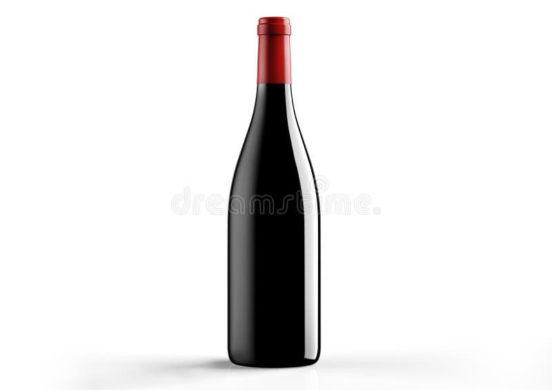 Borgognotta , bottle a red wine royalty free illustration