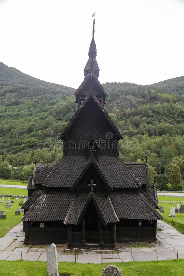 Borgund Daube-Kirche lizenzfreie stockfotografie