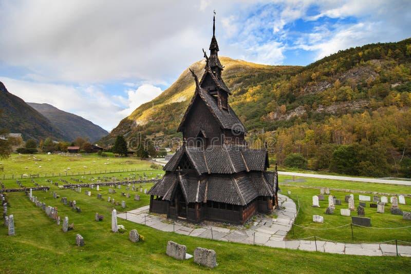Borgund Daube-Kirche stockfotos