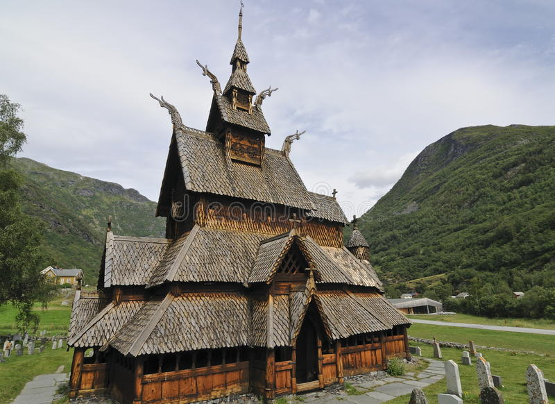 Borgund Daube-Kirche stockbild