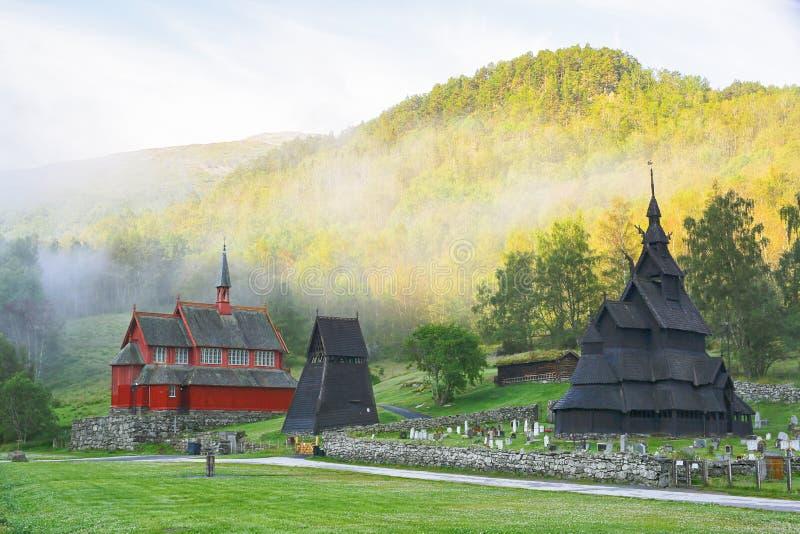 Borgund Daube-Kirche lizenzfreie stockfotos