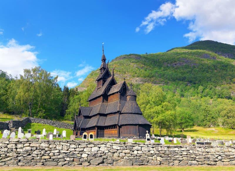 Borgund Stave Church, Norwegen lizenzfreie stockfotografie