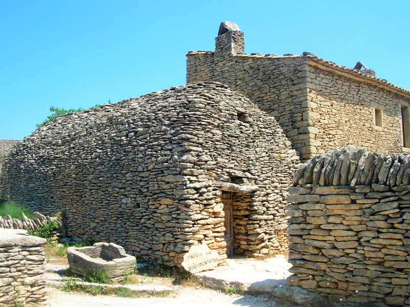 Bories village. A typical rural village in Provence - Bories - South France stock photography