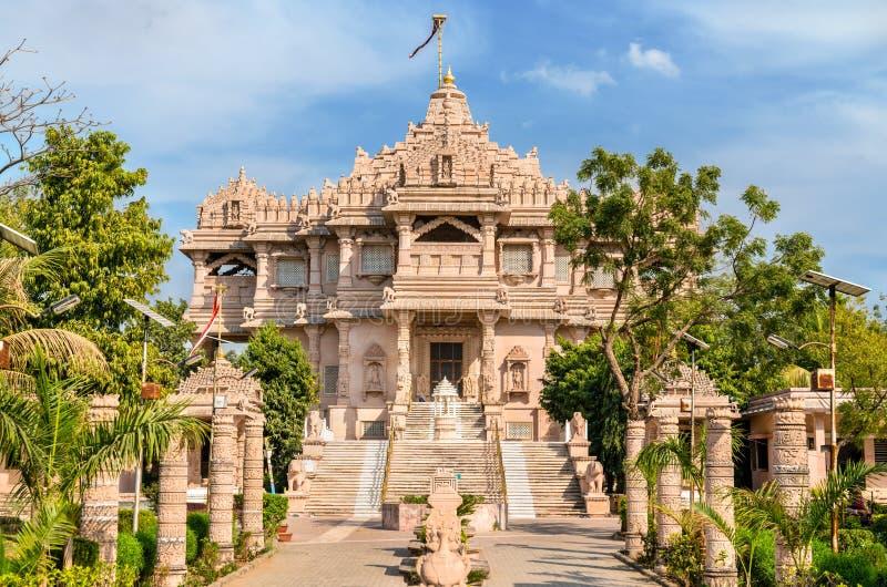Borij Derasar, en Jain tempel i Gandhinagar - Gujarat, Indien arkivbilder