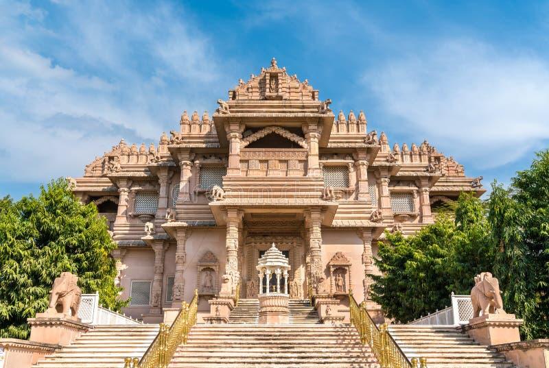 Borij Derasar, Jain świątynia w Gandhinagar, Gujarat -, India obraz stock