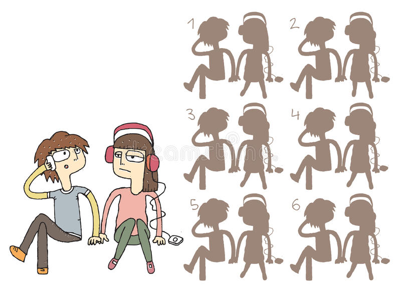 Download Boring Couple Shadows Visual Game Stock Vector - Image: 33548098
