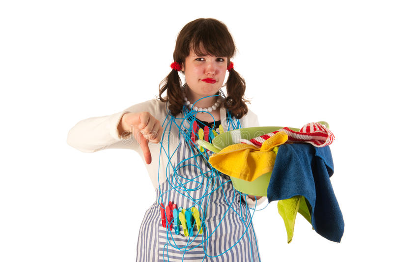 Download Boring housewife stock photo. Image of clothes, down - 26646852