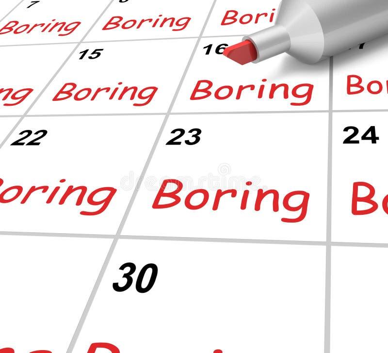 Boring Kalender betekent Monotonieverveling en royalty-vrije illustratie