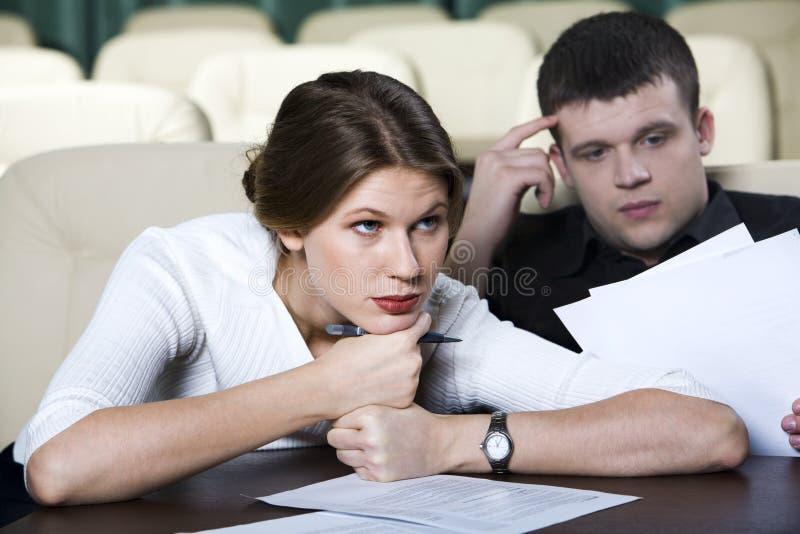 Boring lecture stock photos