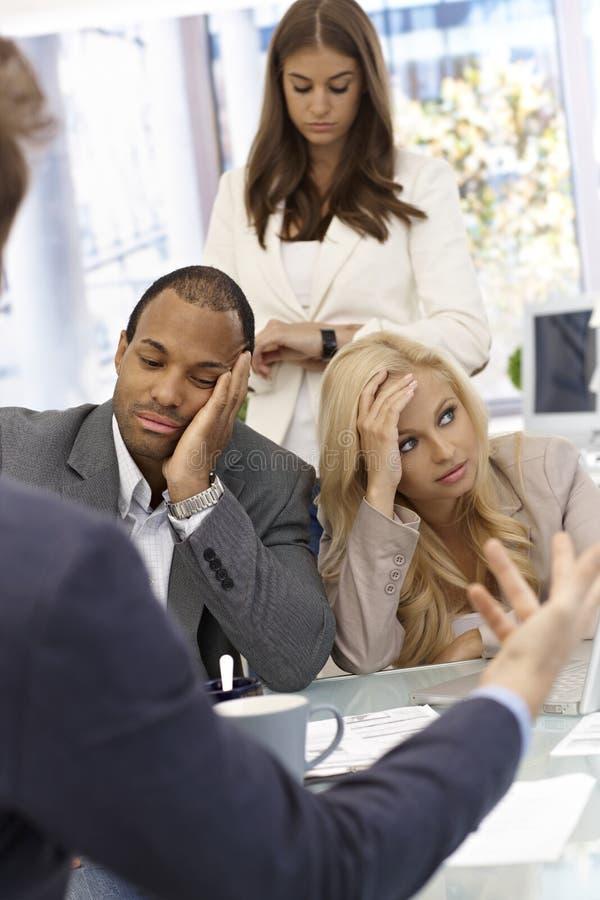 Download Boring and long meeting stock image. Image of caucasian - 33936857