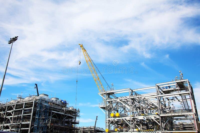 Boringsplatform in aanbouw stock afbeeldingen
