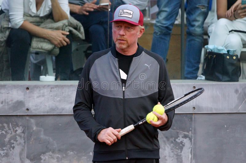 Boris Becker (entraîneur de Novak Djokovic) images stock