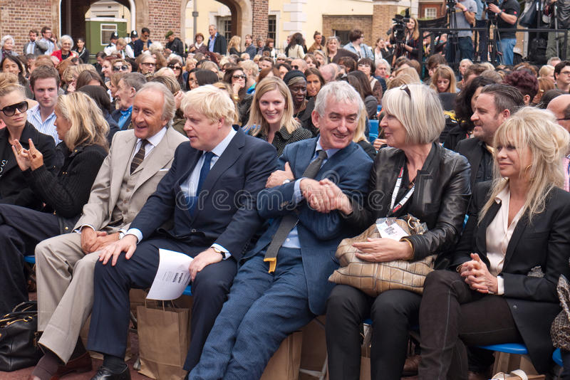Boris Johnson front Row london Fashion week.