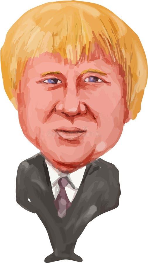 Boris Johnson MP Uxbridge och södra Ruislip royaltyfri illustrationer