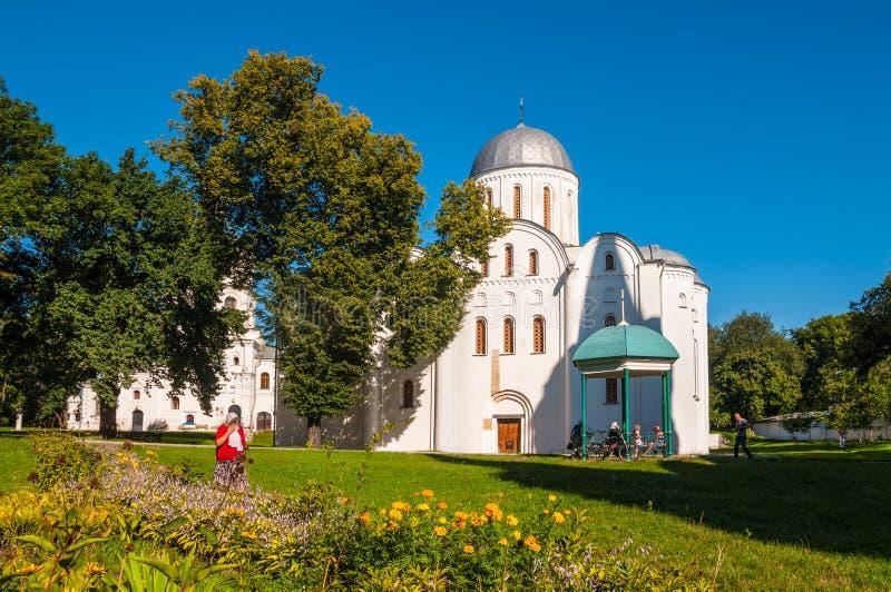 Boris och Gleb Church i Chernigov, Ukraina (XII århundradet) royaltyfri fotografi