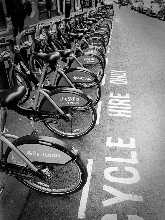 Boris roweru stacja w Londyn zdjęcie royalty free
