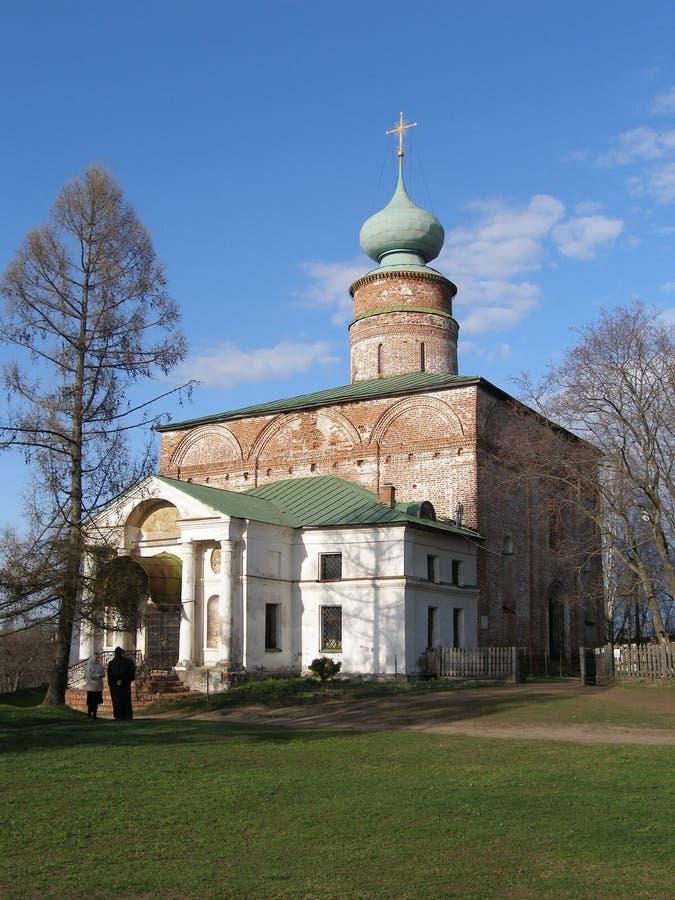 Boris- und Gleb Monastery-Kathedrale, Borisoglebsk, Rostow-Bezirk, Yaroslavl-Region, Russland stockfotos