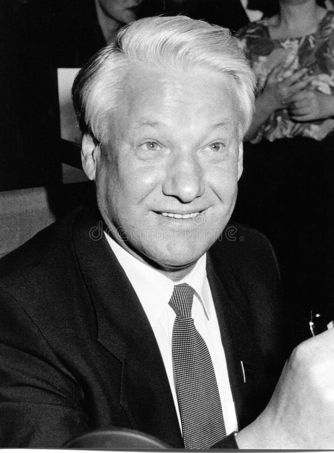 boris yeltsin royaltyfria bilder