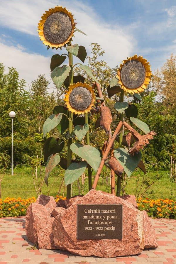 BORISPOL Boryspil, de OEKRAÏNE: monument aan slachtoffers van Holodom royalty-vrije stock afbeelding