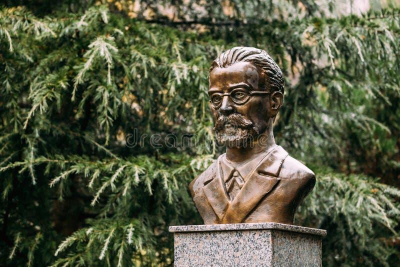 Borjomi, Samtskhe-Javakheti, Georgia Monumento vicino al parco di Borjomi fotografia stock