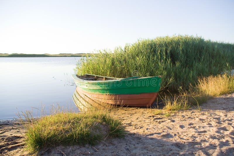 Bork Hafen in Dänemark_ immagini stock libere da diritti