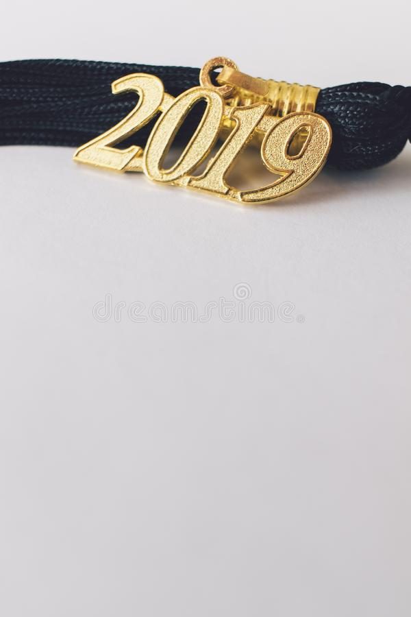 Borla 2019 da graduação fotos de stock